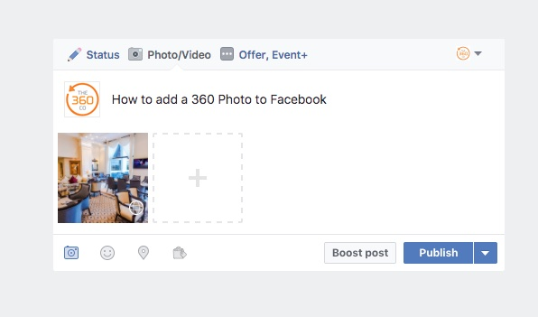 How to post 360 photo on facebook page